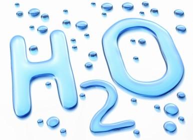 H2O Symbol in Water